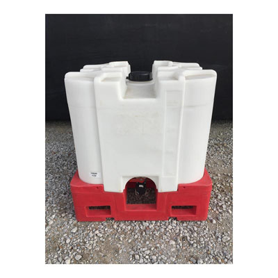 220 Gallon Sq. Stackable IBC w/ Bungs, Insert (Blem)