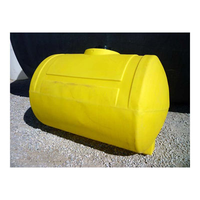 500 Gal Yellow Plastic Horizontal Tank Blem 13900