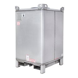 550 Gallon Supertainer Stainless Steel IBC Tote with EPDM