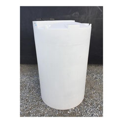 550 Gallon White Vertical Cone Top Tank (Blem)
