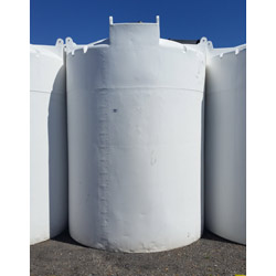 3000 Gallon Opaque White Plastic Vertical Cone Top Tank (Blem)