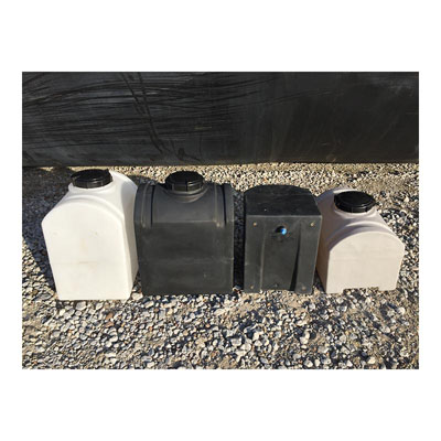 8 Gallon Gray Lawn and Garden Tank w/ Inserts (Blem)