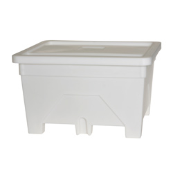 180 Gallon Natural Plastic Heavy Duty Versa-Tote with Lid
