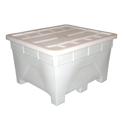 180 Gallon Natural Plastic Tra-Tote with Lid (TT851)