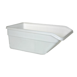9 Cu Ft Natural Plastic Dump Tub