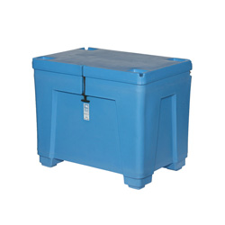 11 cu ft Insulated HDPE Bin w/ Hinged Lid & Legs (PB11HL)