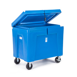 11 cu ft Insulated HDPE Bin w/ Hinged Lid & Caster Wheel (PB11HLC)