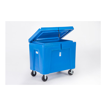 11 cu ft Insulated HDPE Bin w/ Hinged Lid, Caster Wheel & Drain (PB11HLC)