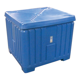 27 cu ft Insulated HDPE Polar Blue Bin With Lid (PB27)