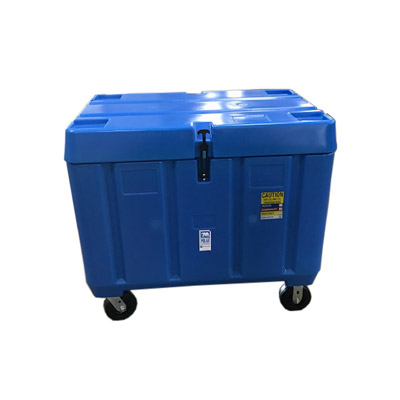 11 cu ft Insulated HDPE Dry Ice Bin w/ Hinged Lid & Caster Wheel (PB11DXX)
