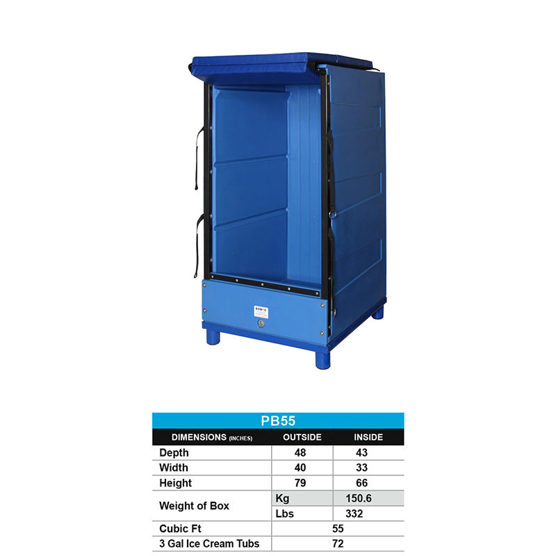 55 Cu Ft Upright Insulated Container 19314 Bonar