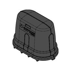 External Pump Cover, Black