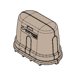 External Pump Cover, Mocha