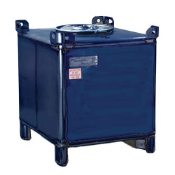 "350 Gallon Supertainer Carbon Steel IBC Tote with 3"" Vent"
