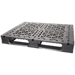 Greystone GS48406R0 Multi-use 6-Runner Plastic Pallet w/ 0 FG Rods