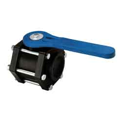 2in Full-Port Polypropylene Bolted Valve w/ EPDM Gasket & Blue Handle