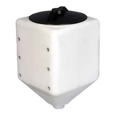 10 Gallon White Plastic Total Drain Tank 42351 Norwesco