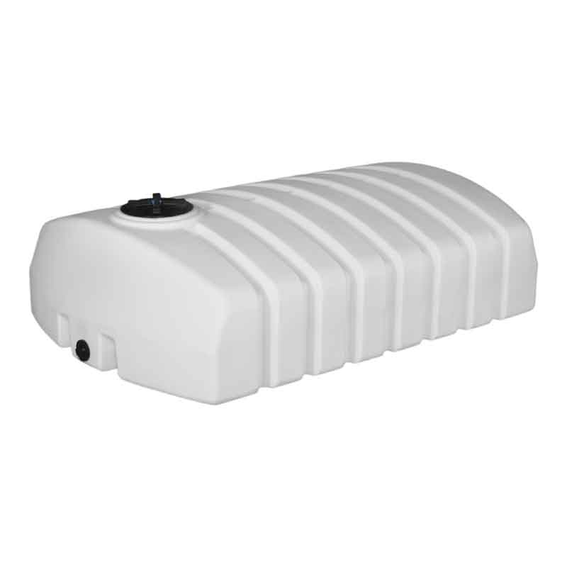 gallon white low profile plastic water only tank