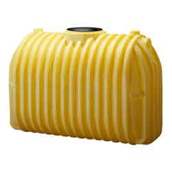 750 Gallon Yellow HD Single Compartment Septic Tank w/ Adapters,1 Manway