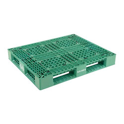 Multipurpose plastic pallet 48x40x6 in, 4-way, Vestil plp2-4840-green