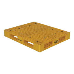 Multipurpose plastic pallet 48x40x6 in, 4-way, Vestil plp2-4840-yellow