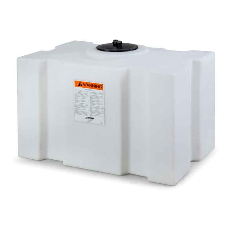 100 Gallon White Plastic Rectangle Tank |10061--|Snyder