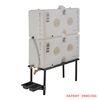 120/120 Gallon Slimtainer Gravity Feed System w/ Drip Tray