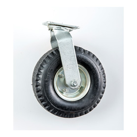 10in Pneumatic Wheel, Swivel w/ No Brake