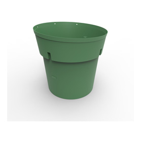 300 Gal Green HDPE Refuse Can