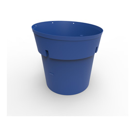 300 Gal Blue HDPE Refuse Can