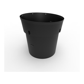 300 Gal Black HDPE Refuse Can