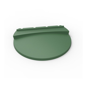 Large Green Lid for HDPE Refuse Container
