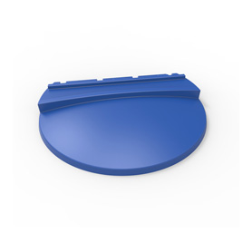 Large Blue Lid for HDPE Refuse Container