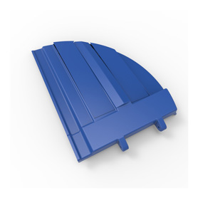 50/50 Blue Refuse Lid, Left Side