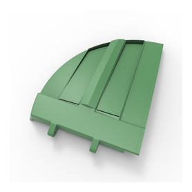 50/50 Green Refuse Lid, Right Side