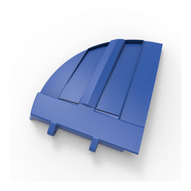 50/50 Blue Refuse Lid, Right Side