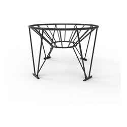 Steel Stand for 45° Cone Bottom Tank, 64in Diameter