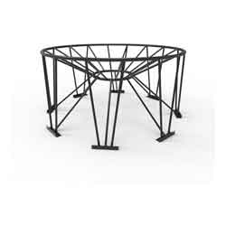 Steel Stand for 30° Cone Bottom Tank, 90in Diameter, 8 Legs