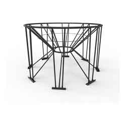 Steel Stand for 45° Cone Bottom Tank, 90in Diameter, 8 Legs