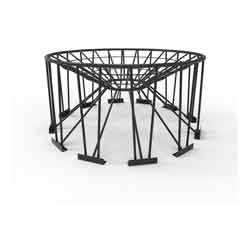 Steel Stand for 30° Cone Bottom Tank, 90in Diameter, 12 Legs