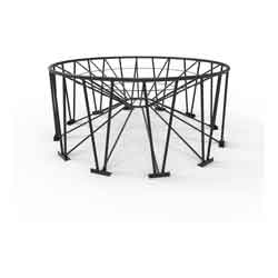 Steel Stand for 30° Cone Bottom Tank, 142in Diameter, 12 Legs