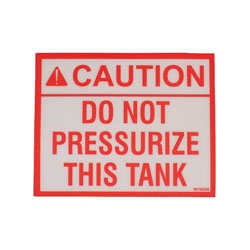 """Do Not Pressurize"" Decal"