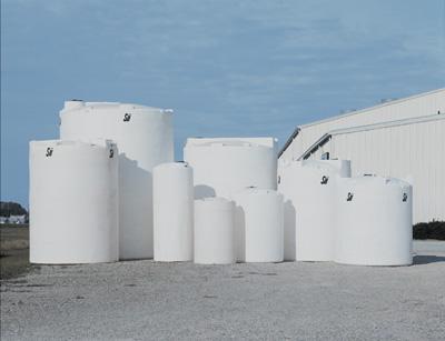 10000 Gallon White Plastic Vertical Tank 53302 Snyder