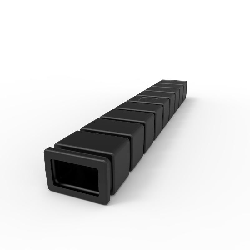 60 Inch Black Plastic Fork Sleeve |FS152-B| Stratis