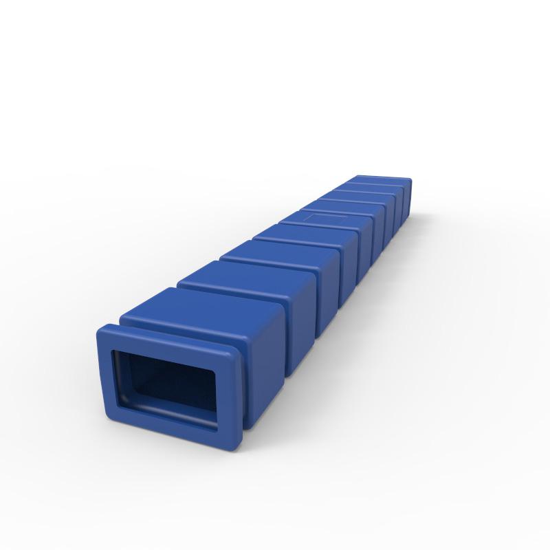 60 Inch Blue Plastic Fork Sleeve Fs152 Stratis