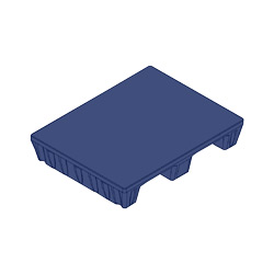 "31"" x 24"" Smooth Top Multipurpose Pallet, Blue"