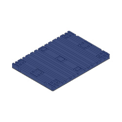 "40"" x 29"" Ribbed Top Pallet Board, Blue"