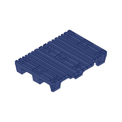 "41"" x 31"" Notched 4-Way Pallet, Blue"