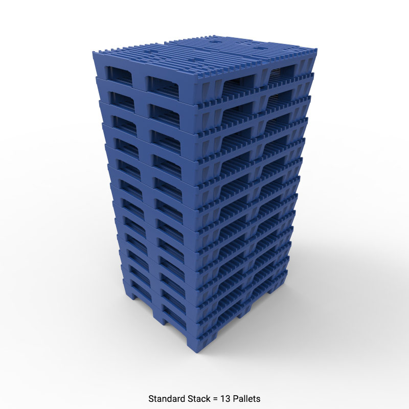 48 x 40 in Slotted Top Plastic Pallet   P4840RS00 ...