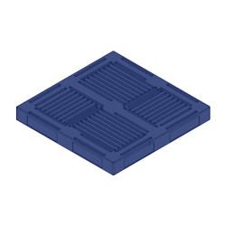 "48"" x 48"" Double Sided Pallet, 4-Way, Blue"